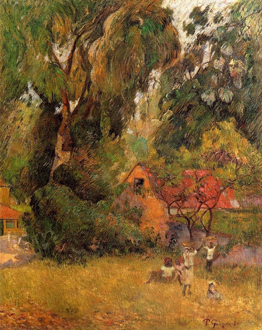 Huts under trees 1887 private collection